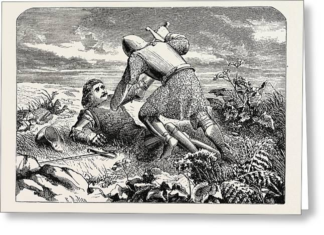 The Defeated Champion Yield Thee Rescue Or No Rescue Greeting Card by English School