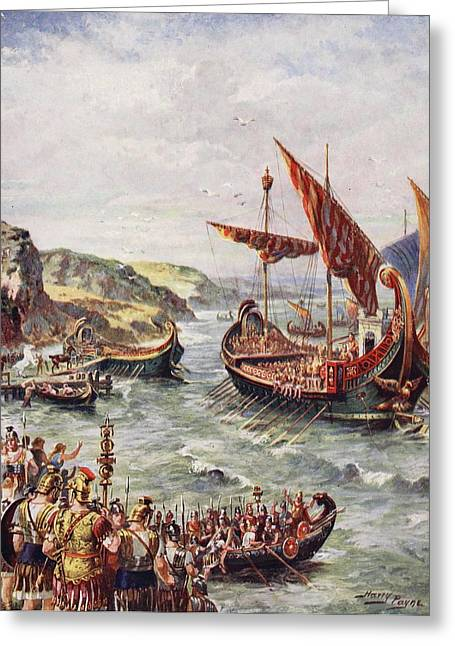 The Departure Of The Romans Greeting Card by Henry A. Payne