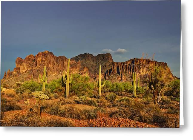 The Desert Aglow Greeting Card