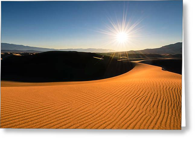 Greeting Card featuring the photograph The Desert Sun by Dan Mihai