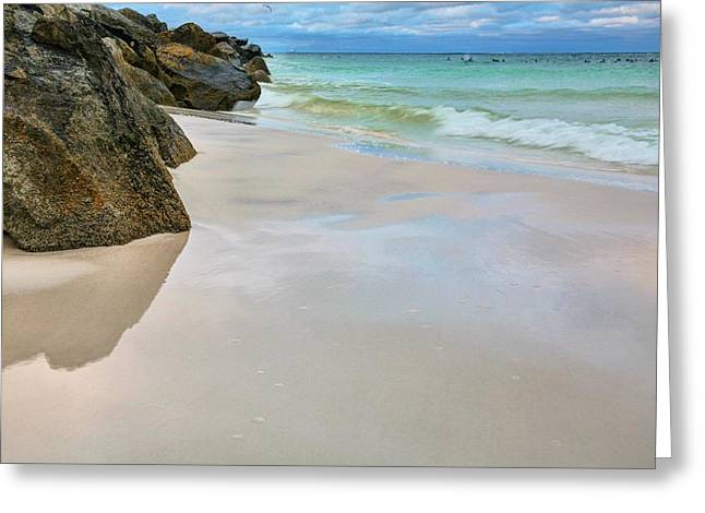 The Destin Jetty Greeting Card by JC Findley