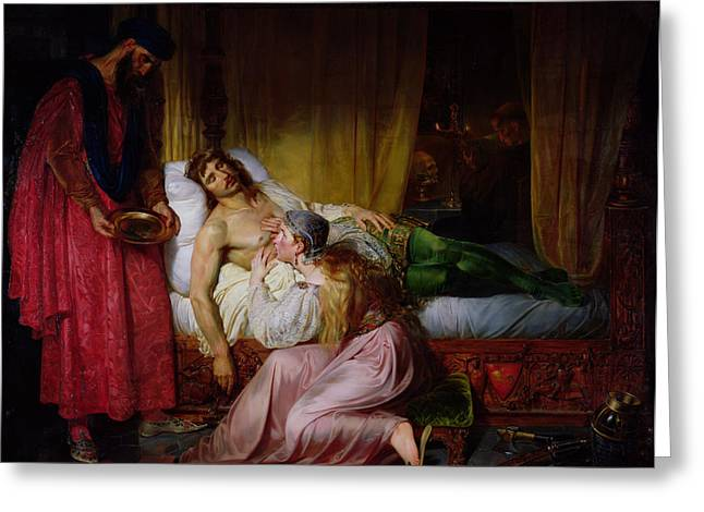 The Devotion Of Princess Sybille, 1832 Oil On Canvas Greeting Card