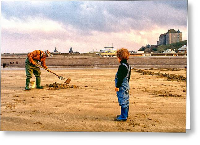 The Digger Greeting Card by Steve Ladner