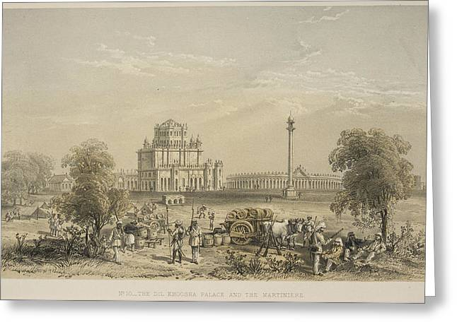 The Dil Khoosha Palace And The Martiniere Greeting Card by British Library