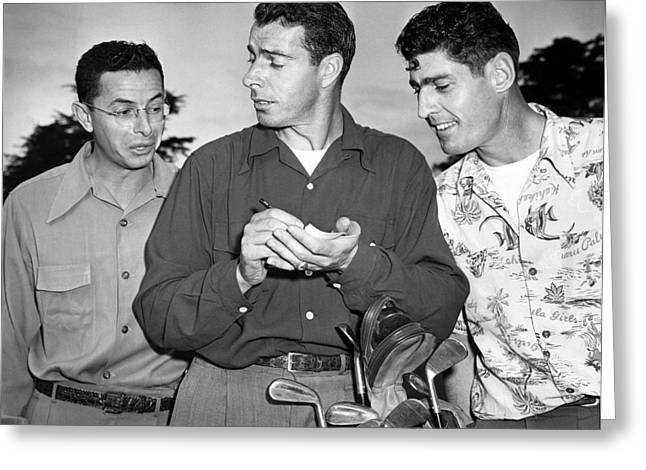 The Dimaggio Brothers Greeting Card by Underwood Archives
