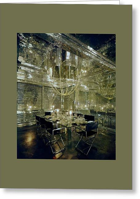 The Dining Room Of Ara Gallant's Apartment Greeting Card by William Grigsby