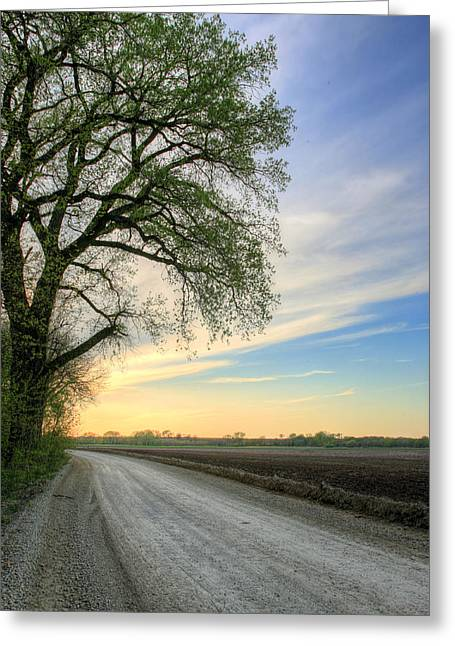 The Dirt Road Greeting Card by JC Findley