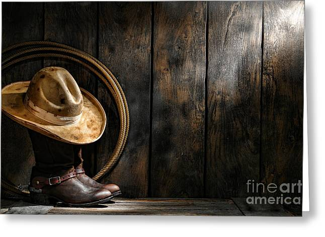 The Dirty Hat Greeting Card by Olivier Le Queinec