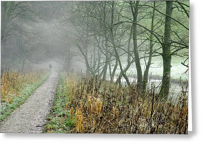 The Disappearing Man - Wolfscote Dale Greeting Card by Rod Johnson