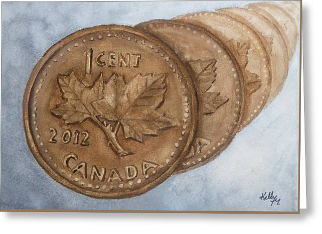 The Disappearing Penny Greeting Card