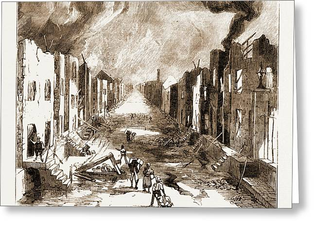 The Disastrous Fire At Kingston, Jamaica Greeting Card