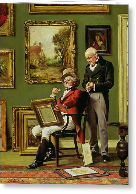 The Discerning Collector Greeting Card by Arthur Longlands Grace