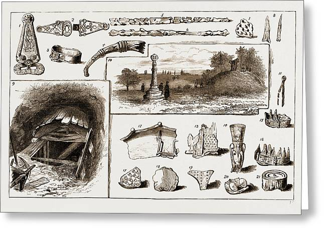 The Discovery Of A Vikings Remains At Taplow, Uk, 1883 1 Greeting Card by Litz Collection