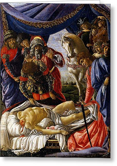 The Discovery Of Holofernes Corpse Greeting Card by Sandro Botticelli