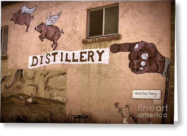 The Distillery Greeting Card by Janice Rae Pariza