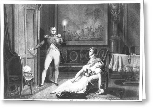 The Divorce Of Napoleon I 1769-1821 And Josephine Tascher De La Pagerie 1763-1814 30th November Greeting Card by Charles Abraham Chasselat