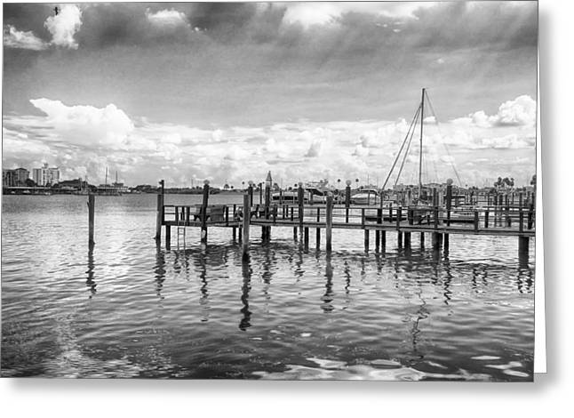 Greeting Card featuring the photograph The Dock by Howard Salmon