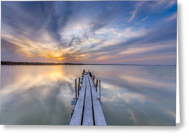 The Dock II Greeting Card by Peter Tellone