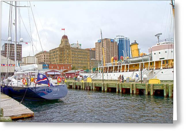 The Docks Greeting Card by Betsy Knapp