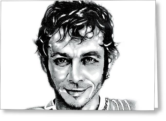 The Doctor Valentino Rossi Greeting Card by Mike Sarda
