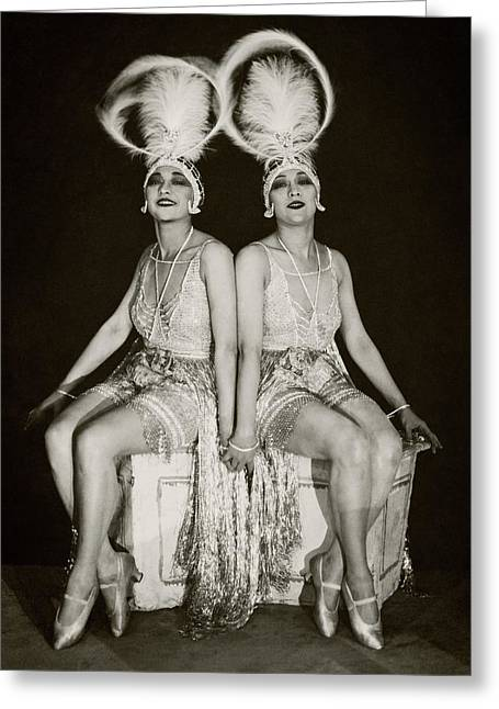 The Dolly Sisters Greeting Card by James Abb?