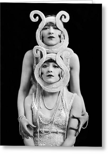 The Dolly Sisters Greeting Card by Underwood Archives