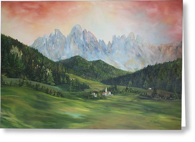 The Dolomites Italy Greeting Card