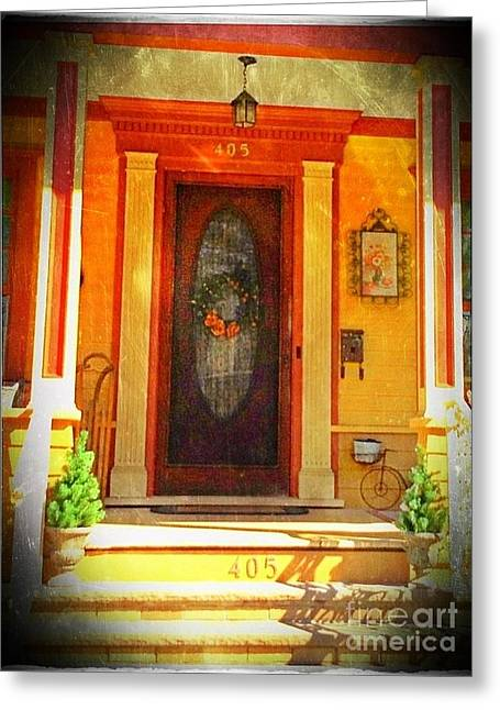 The Door 1 Greeting Card by Becky Lupe
