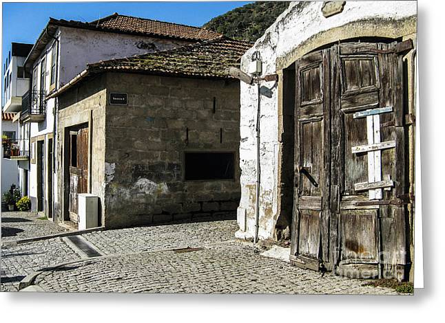 Greeting Card featuring the photograph The Door by Arlene Carmel