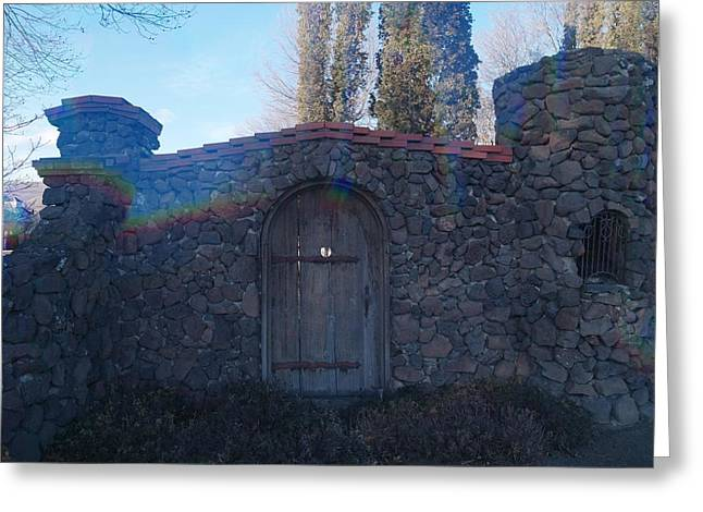 The Door In Greeting Card by Jeff Swan