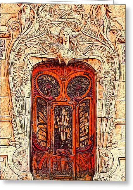 The Door Greeting Card by Jack Zulli