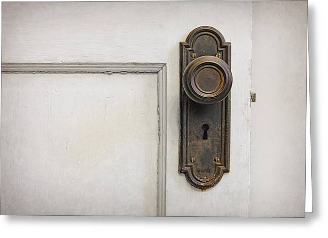 The Door Greeting Card by Scott Norris
