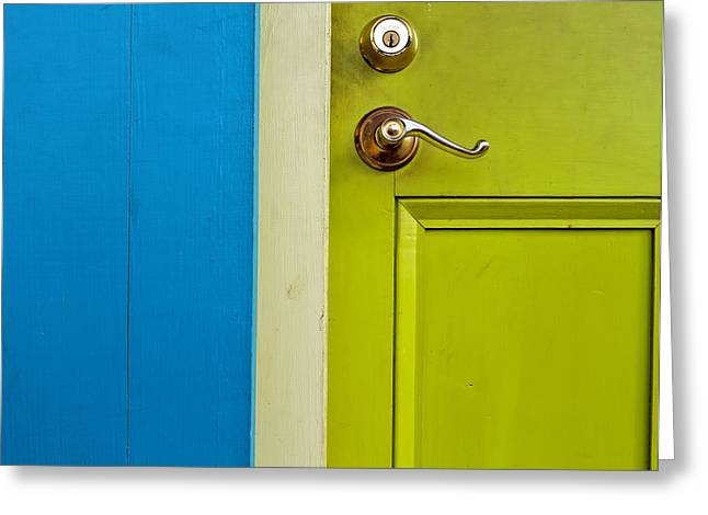 The Door Greeting Card by Stellina Giannitsi