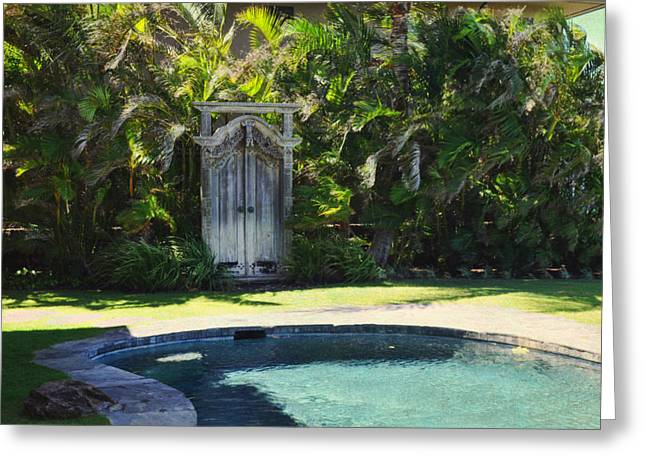 The Door To Paradise Greeting Card by Paulette B Wright