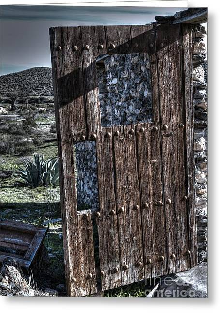 The Door With No Lock To Lock Greeting Card by Heiko Koehrer-Wagner