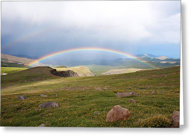Double Rainbow Greeting Cards - The Double Blessing Greeting Card by Jim Garrison