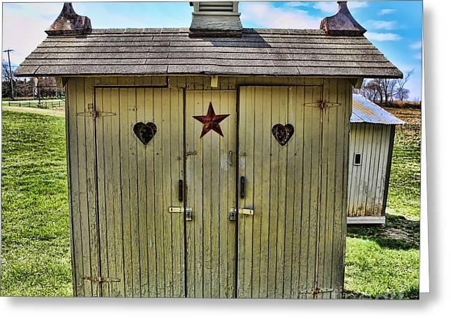 The Double Love Boat Outhouse Greeting Card by Lee Dos Santos