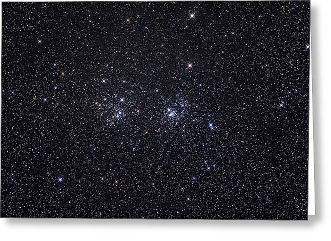 The Double Star Cluster Ngc 869 & Ngc Greeting Card by Alan Dyer