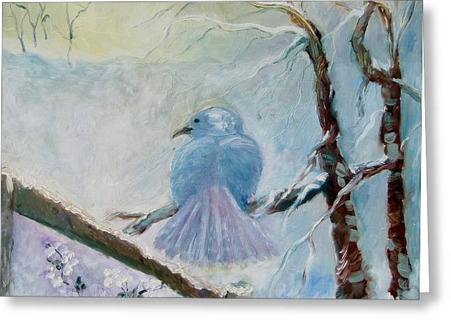 The Dove Greeting Card by Susan Hanlon