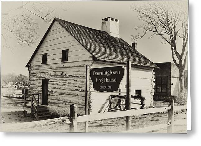 The Downingtown Log House  Greeting Card by Bill Cannon