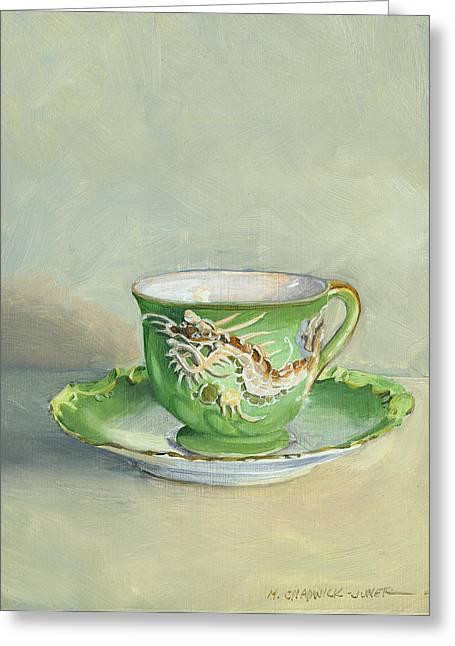 The Dragon Teacup Greeting Card