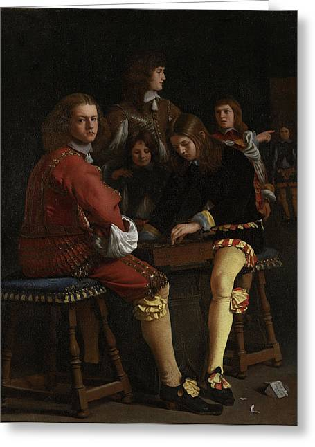 The Draughts Players, Michael Sweerts Greeting Card