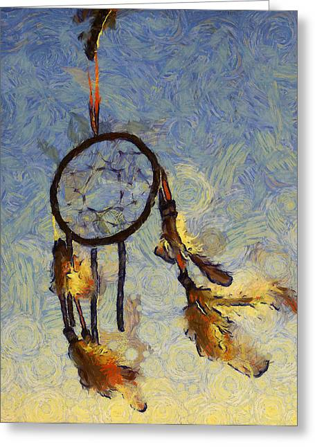 The Dream Catcher Greeting Card by Shannon Story