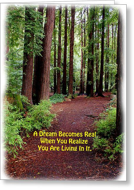 The Dream Is Real Again Greeting Card