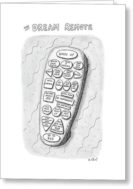 The Dream Remote Greeting Card
