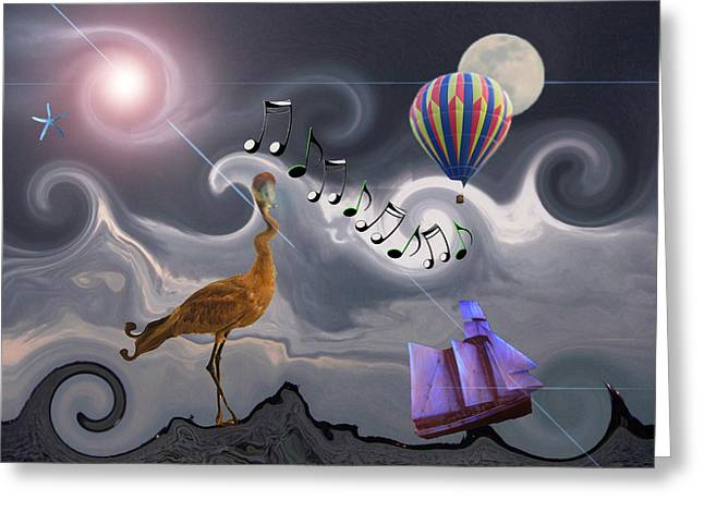 The Dream Voyage - Mad World Series Greeting Card by Amanda Vouglas