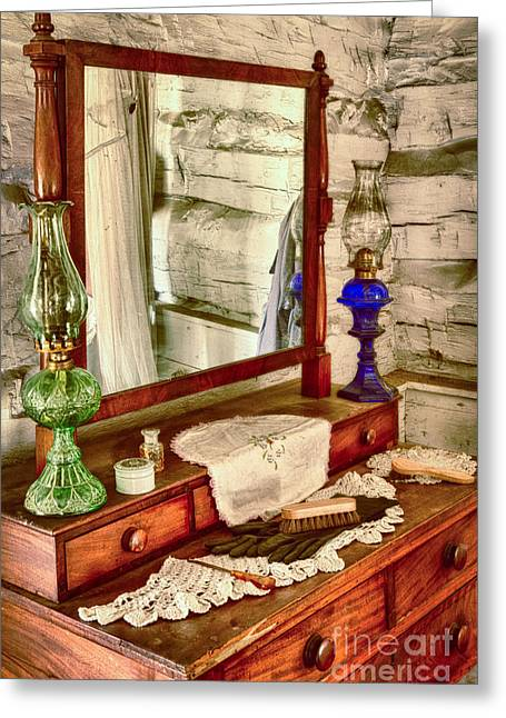 The Dresser Greeting Card by Inge Johnsson