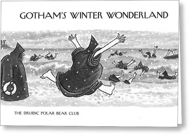 The Druidic Polar Bear Club Greeting Card