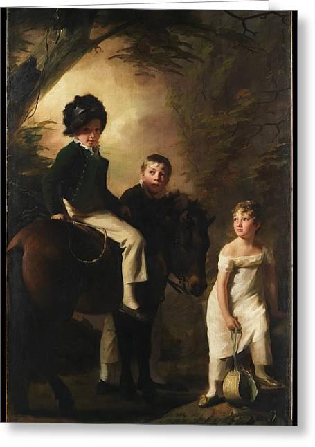 The Drummond Children Greeting Card by Sir Henry Raeburn