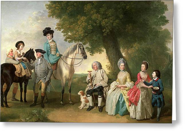 The Drummond Family, Johan Joseph Zoffany Greeting Card by Litz Collection